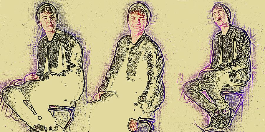 Jezcself Photograph - Justin Bieber 40 by Jez C Self
