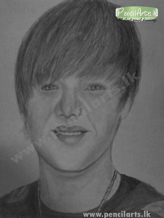 Justin Bieber Pencil Art Drawing