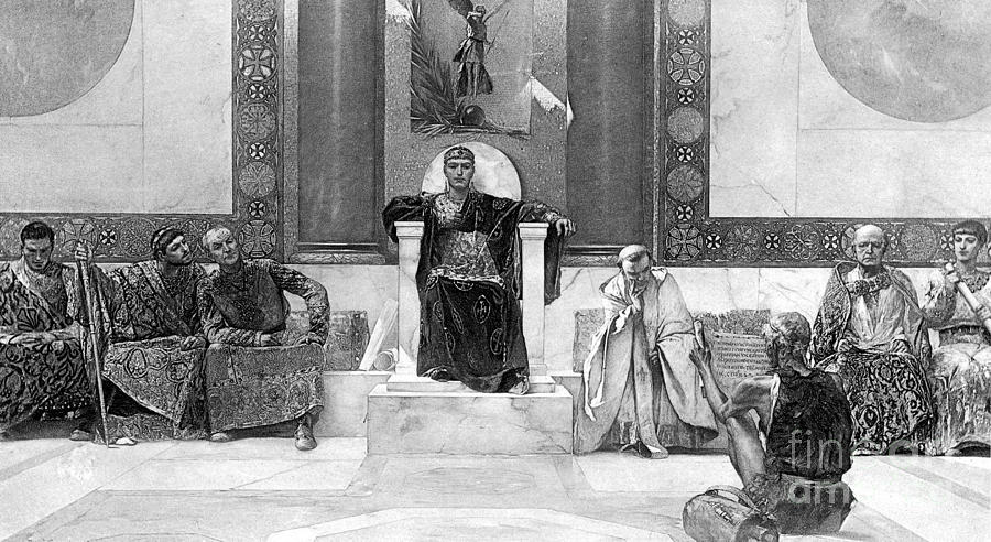 6th Century Photograph - Justinian I (483-565) by Granger