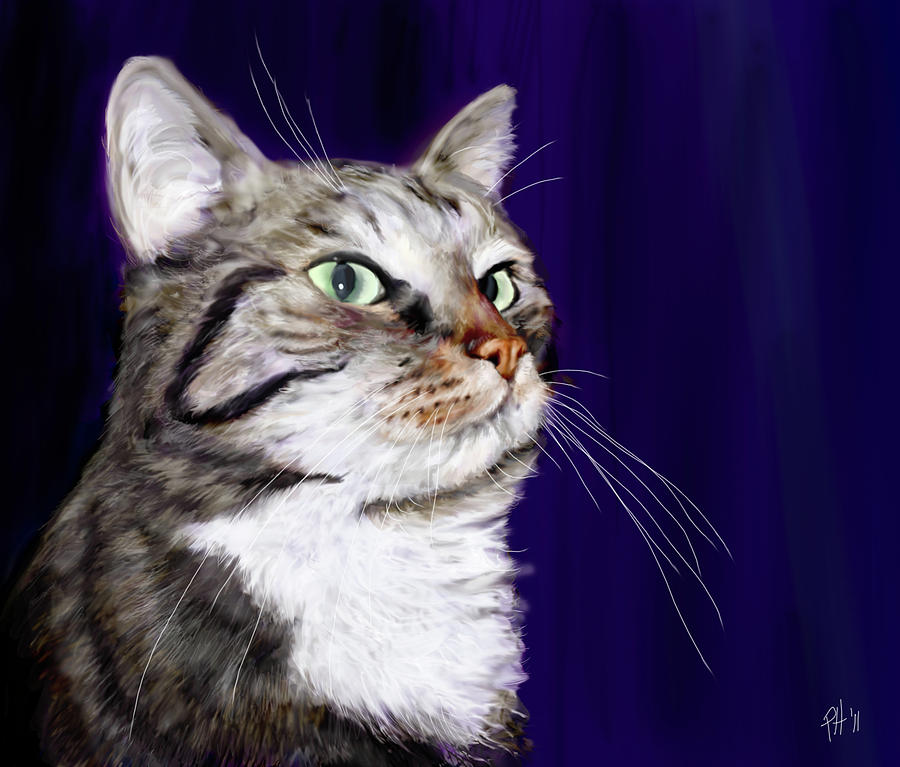 Juttas Cat Painting  - Juttas Cat Fine Art Print