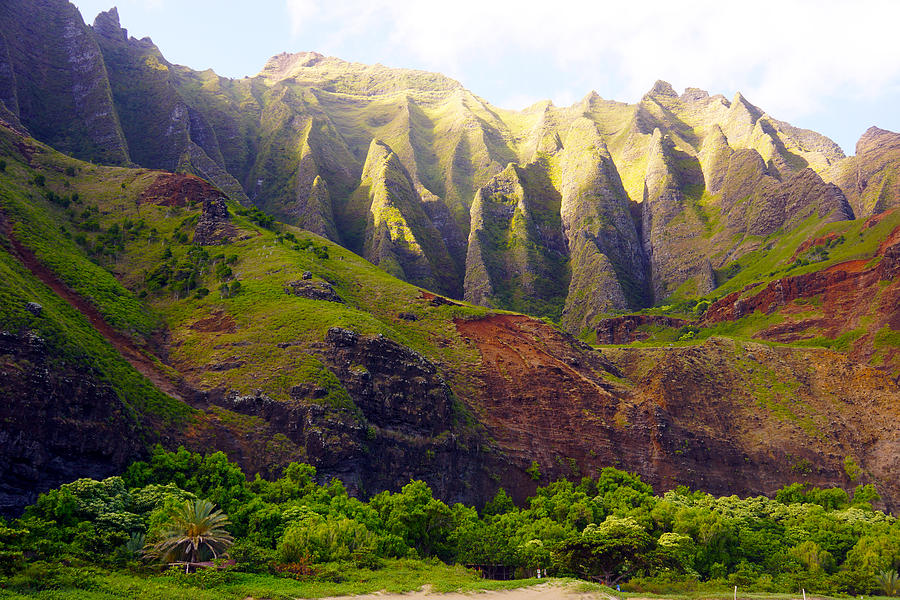 Kalalau Beach Mountains Kauai Photograph  - Kalalau Beach Mountains Kauai Fine Art Print