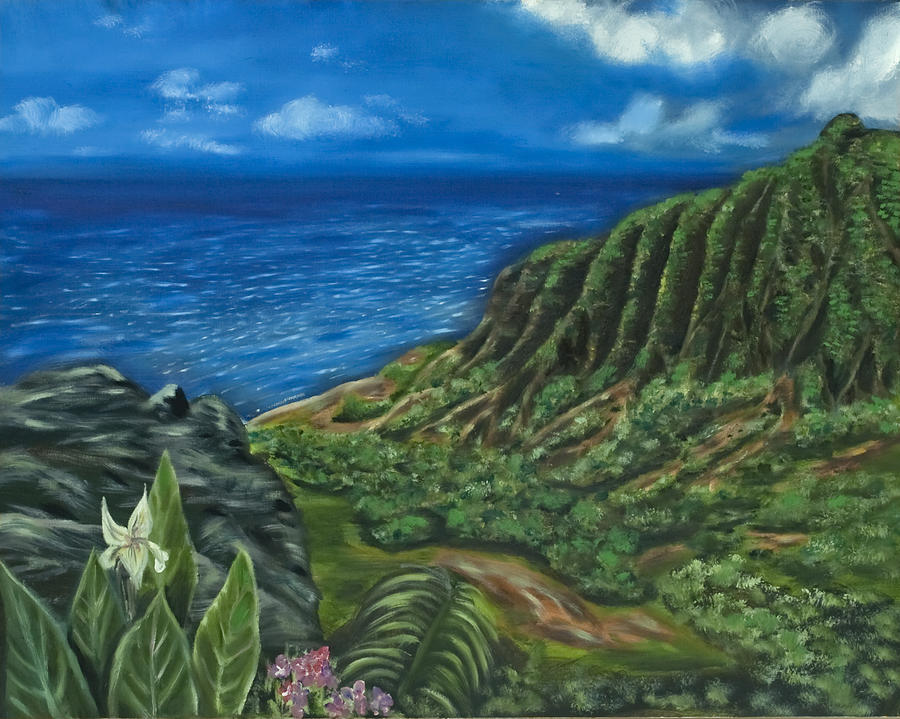 Kalalau Valley Painting  - Kalalau Valley Fine Art Print