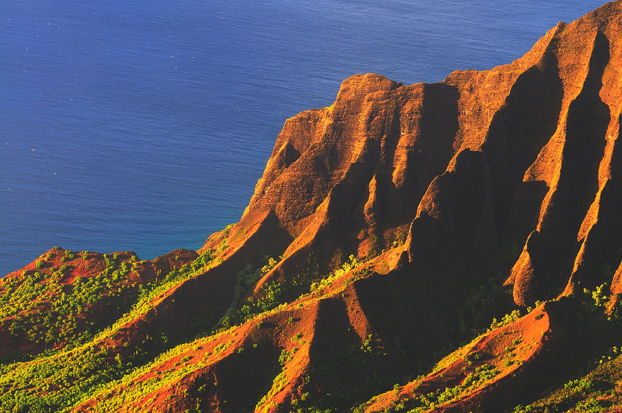 Kalalau Valley Sunset In Kauai Photograph  - Kalalau Valley Sunset In Kauai Fine Art Print