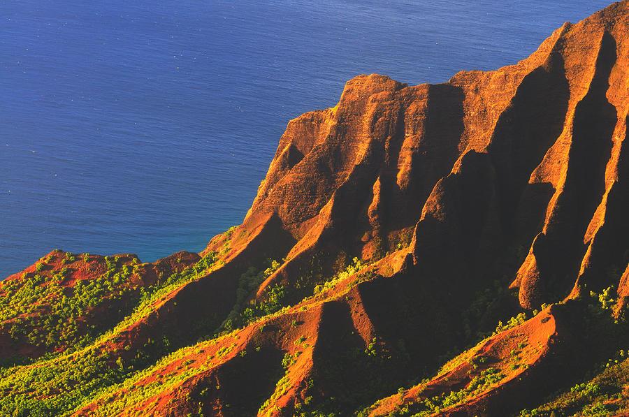 Kalalau Valley Sunset In Kauai Photograph