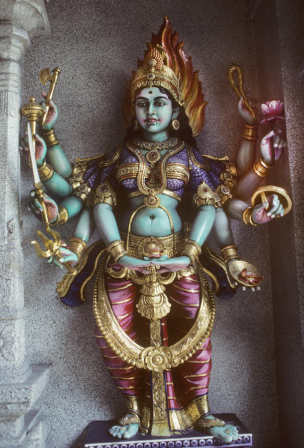Kali Statue In Singapore Photograph  - Kali Statue In Singapore Fine Art Print