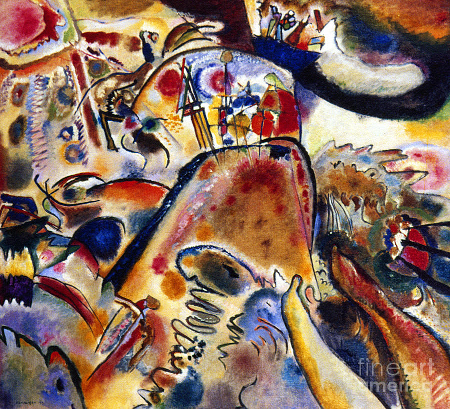 Kandinsky Small Pleasures Painting  - Kandinsky Small Pleasures Fine Art Print