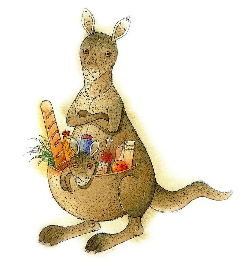 Kangaroo 02 Painting