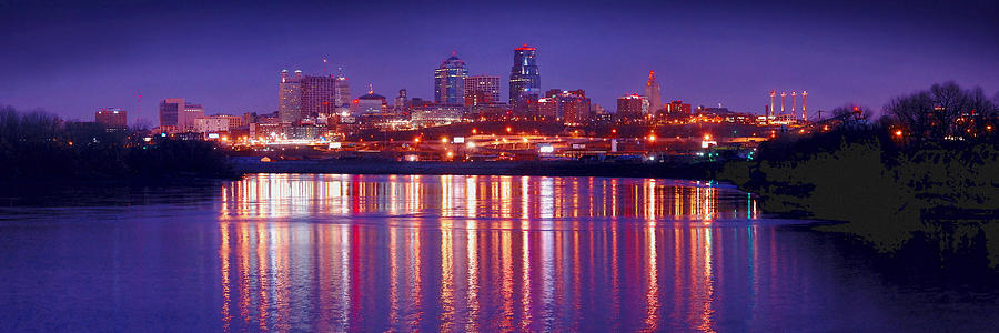 Kansas City Missouri Skyline At Night Photograph