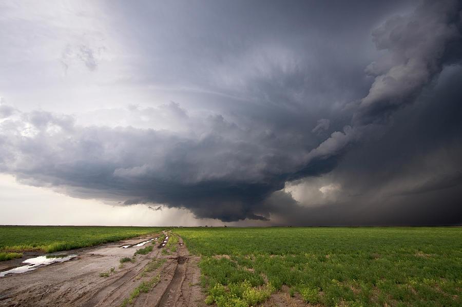 Horizontal Photograph - Kansas Distant Tornado Vortex 2 by Ryan McGinnis