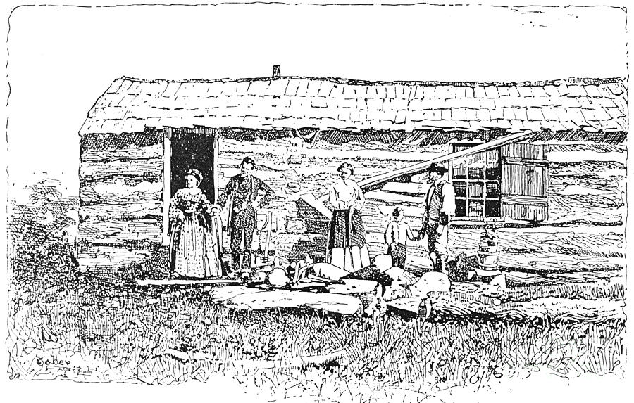 Kansas: Early House, 1854 Photograph