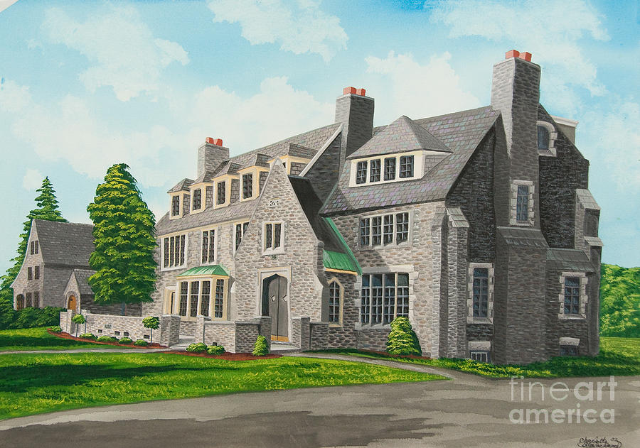 Kappa Delta Rho South View Painting  - Kappa Delta Rho South View Fine Art Print