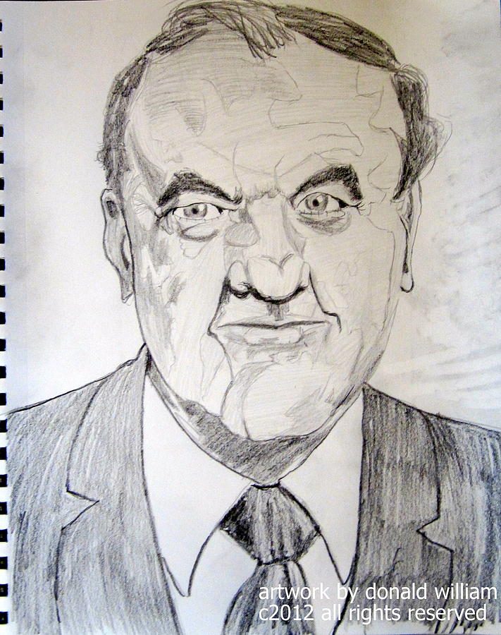Karl Malden Lt Stone Streets Of San Francisco Drawing