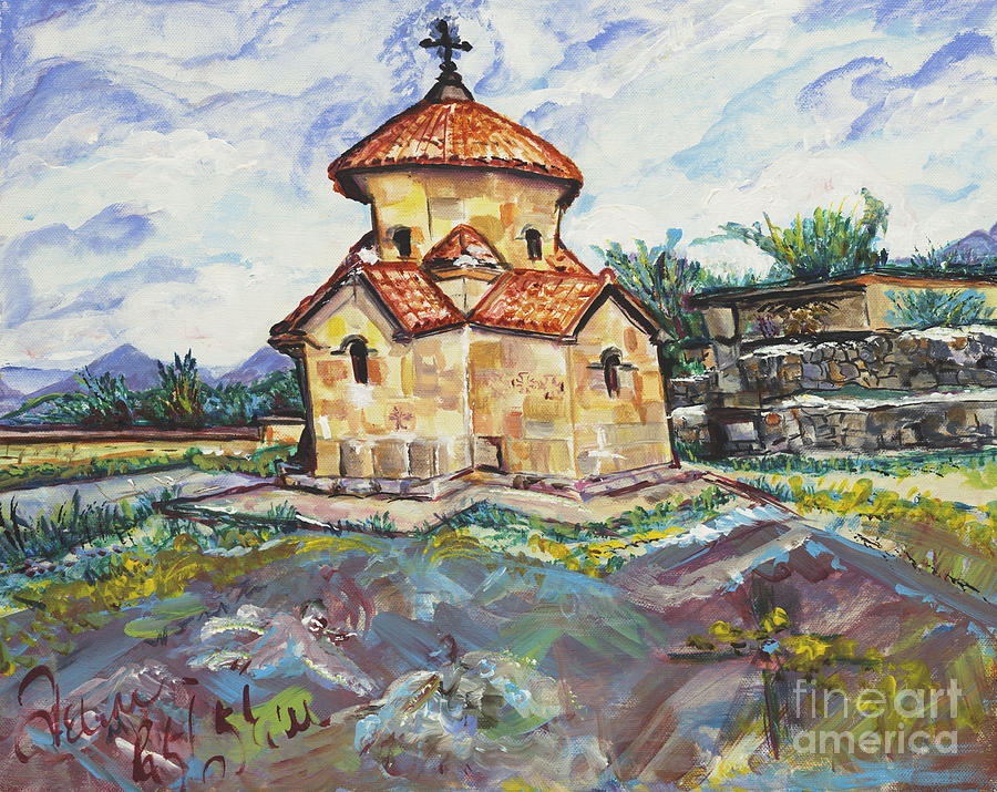 Karmravor Church Vii Century Armenia Painting  - Karmravor Church Vii Century Armenia Fine Art Print