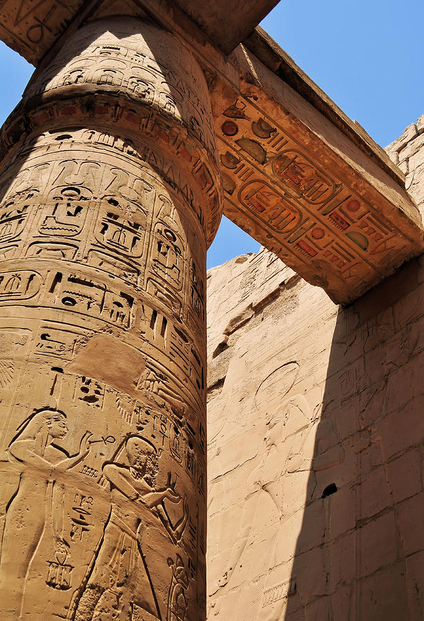 Karnak Temple Columns Photograph  - Karnak Temple Columns Fine Art Print