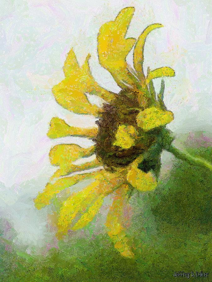Kates Sunflower Painting  - Kates Sunflower Fine Art Print