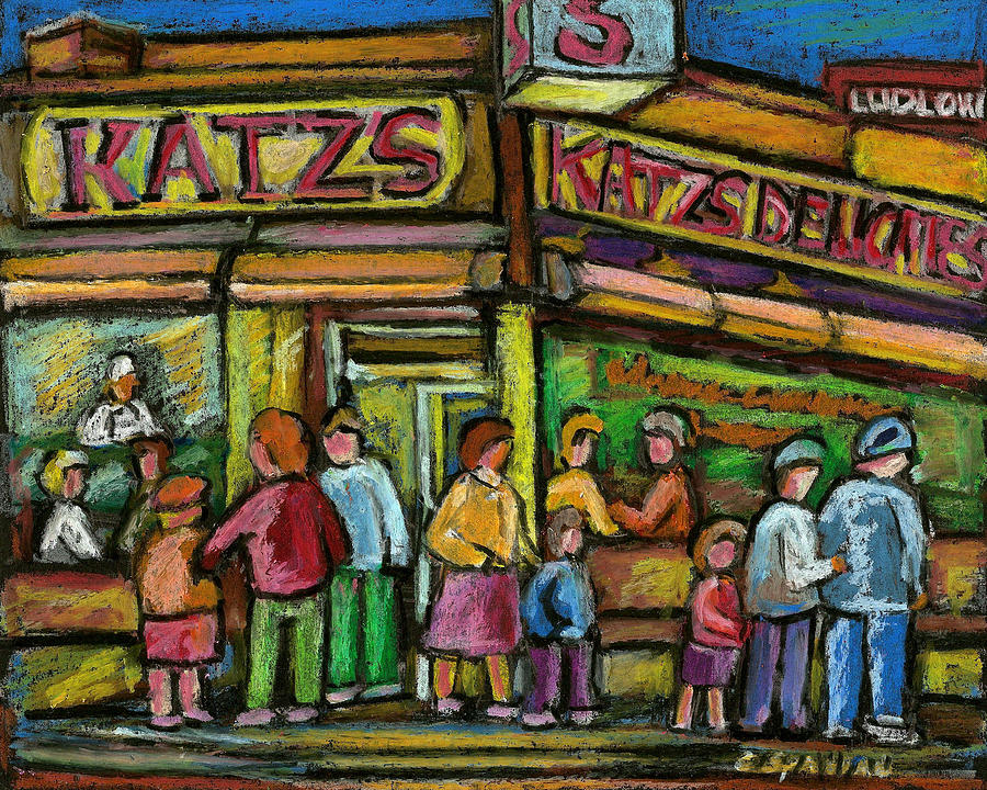 Katzs Houston Street Deli Painting  - Katzs Houston Street Deli Fine Art Print