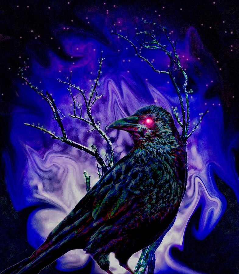 Keeper Of The Crow Night Watch Photograph  - Keeper Of The Crow Night Watch Fine Art Print