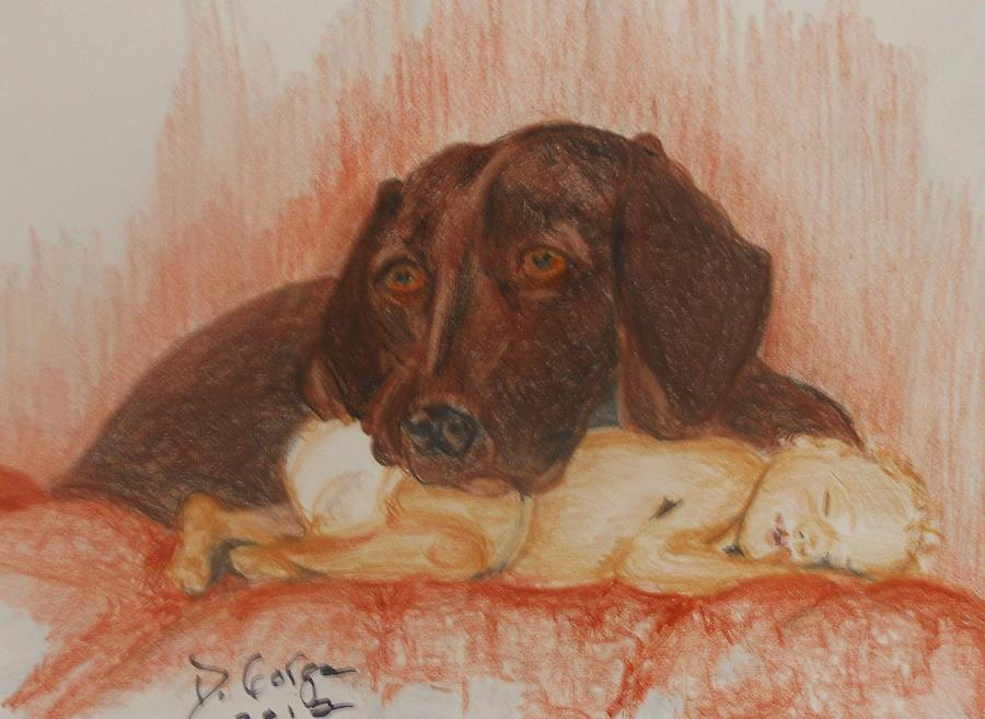 Keeping Watch  Pastel