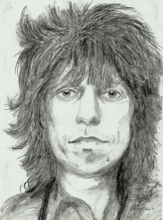 Keith Richards Drawing  - Keith Richards Fine Art Print