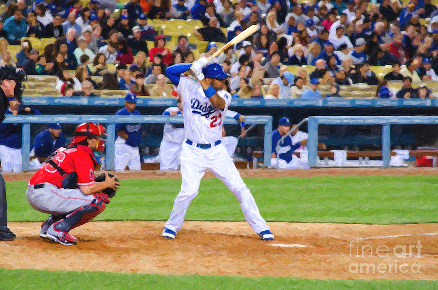 Kemp At Bat Digital Art  - Kemp At Bat Fine Art Print