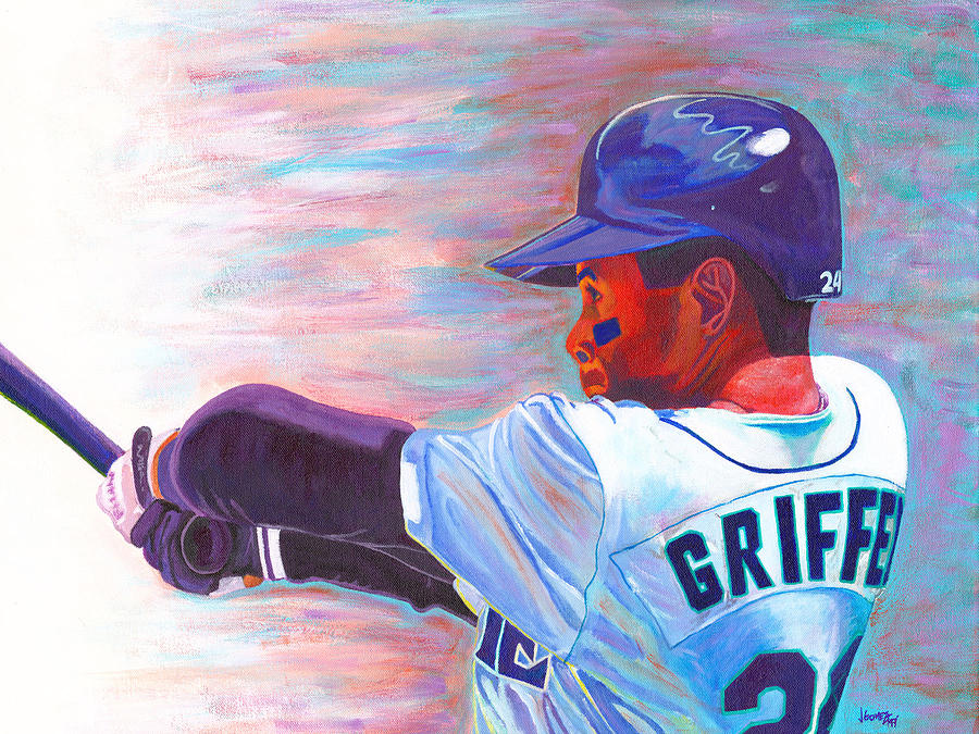 Ken Griffey Jr Painting  - Ken Griffey Jr Fine Art Print