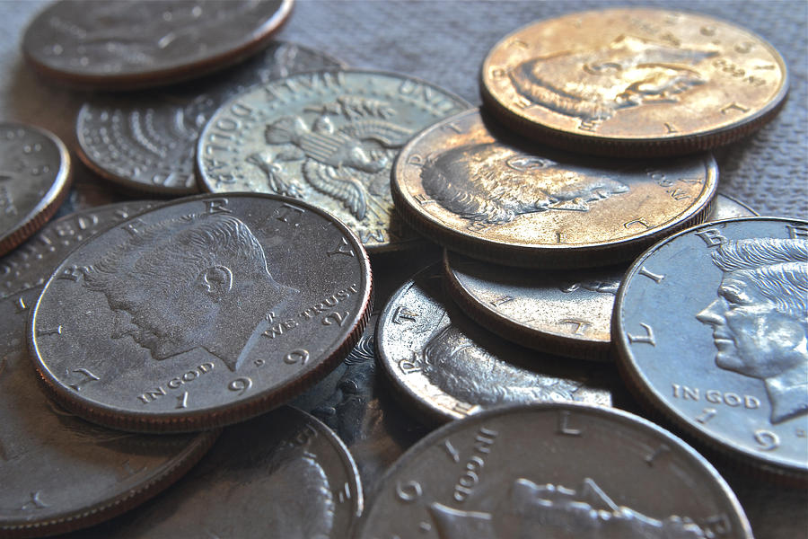 Kennedy Half Dollars I Photograph