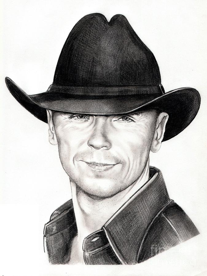 Kenny Chesney Drawing  - Kenny Chesney Fine Art Print