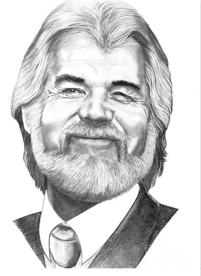 Kenny Rogers Drawing  - Kenny Rogers Fine Art Print