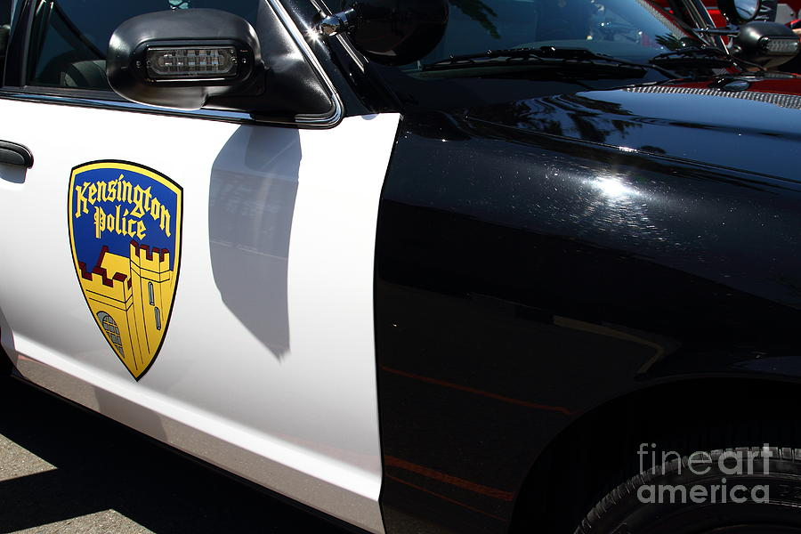 Kensington California Police Car . 7d15876 Photograph  - Kensington California Police Car . 7d15876 Fine Art Print