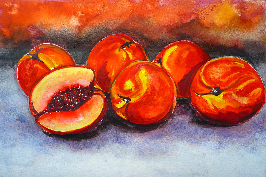 Kentucky Peaches Painting