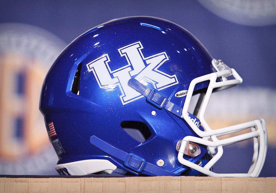 Kentucky Wildcats Football Helmet Photograph
