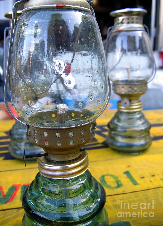 Tank Photograph - Kerosene Lamps by Yali Shi