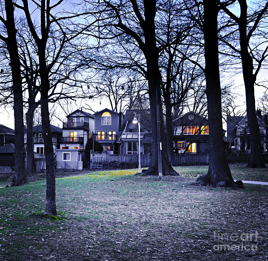 Kew Park At Dusk Photograph  - Kew Park At Dusk Fine Art Print