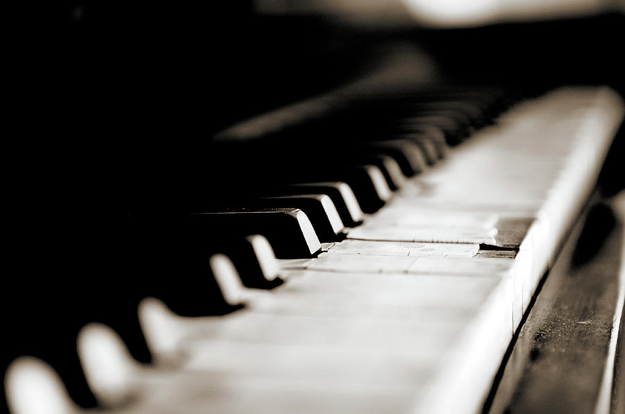 Keys Of Old Piano Photograph
