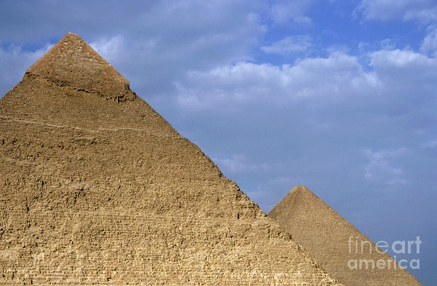 Khephren Pyramid And The Great Pyramid Photograph