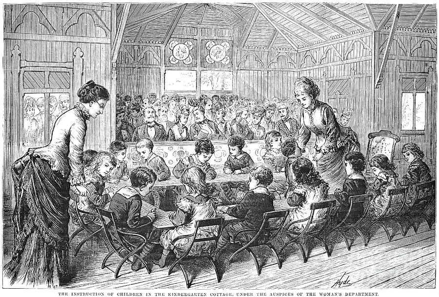 Kindergarten, 1876 Photograph