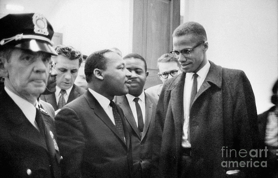 King And Malcolm X, 1964 Photograph  - King And Malcolm X, 1964 Fine Art Print
