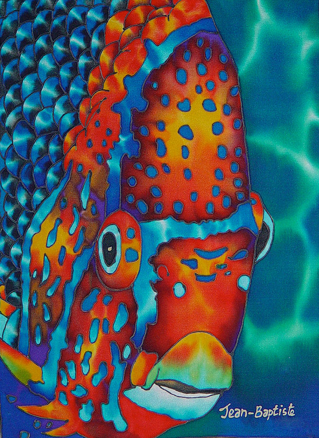 King Angelfish Painting