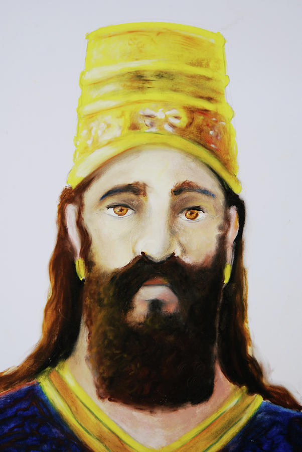 King Nebuchadnezzar Drawing  - King Nebuchadnezzar Fine Art Print