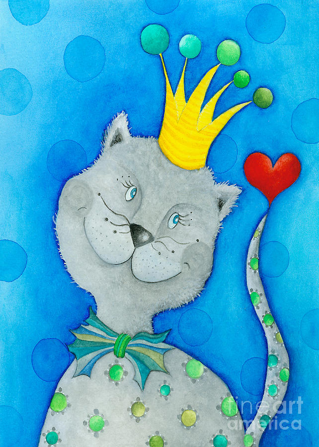 King Of Cats Painting  - King Of Cats Fine Art Print