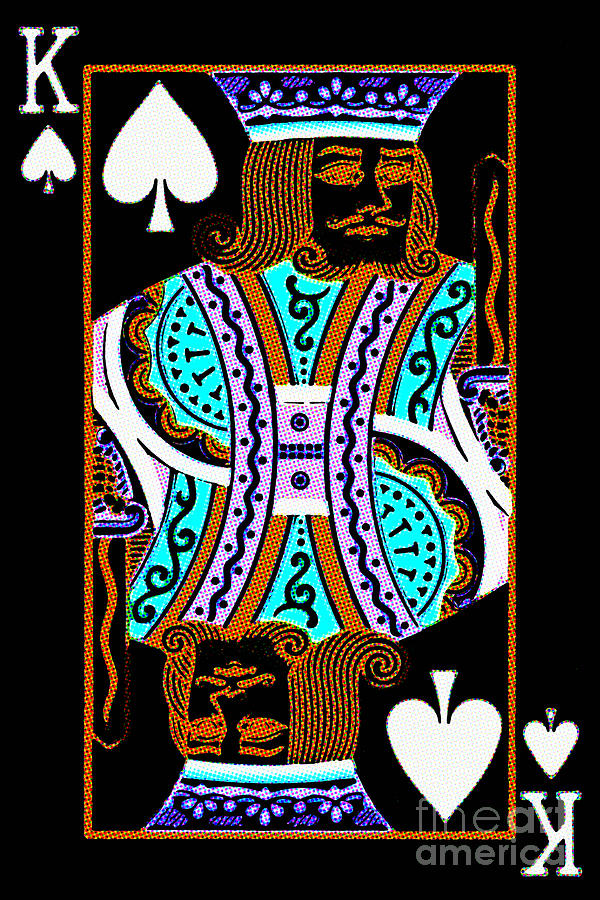 Card Photograph - King Of Spades by Wingsdomain Art and Photography
