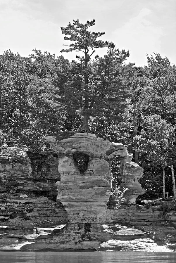 Pictured Rocks Photograph - King Of The Hill Pictured Rocks by Michael Peychich