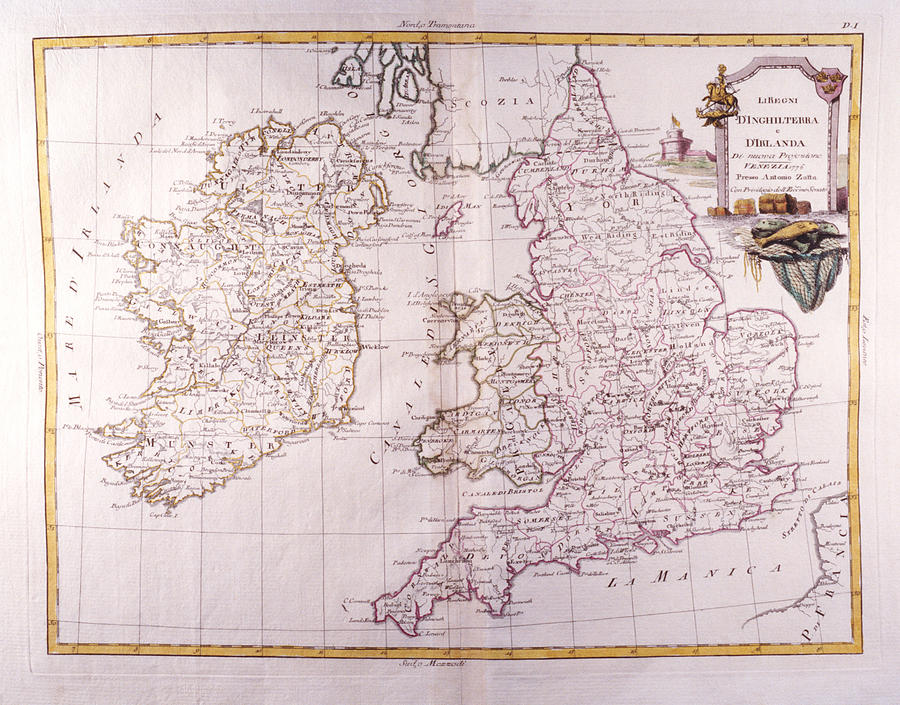Horizontal Digital Art - Kingdom Of England And Ireland by Fototeca Storica Nazionale