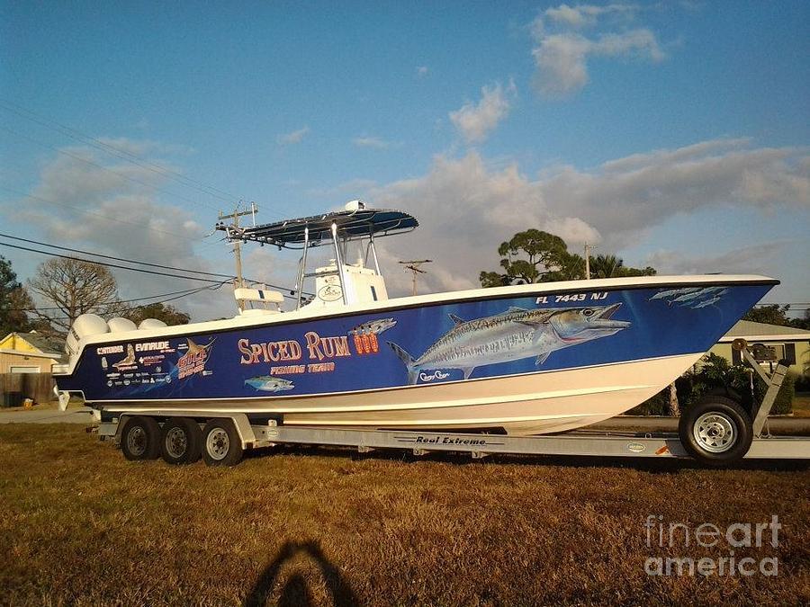 Kingfish Boat Wrap Digital Art