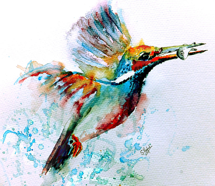 Kingfisher Painting  - Kingfisher Fine Art Print