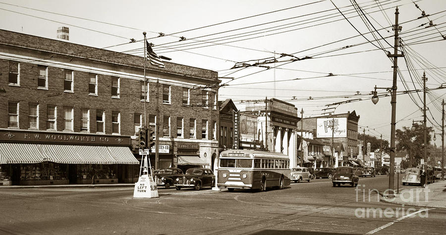 Kingston Corners Kingston Pa Early 1950s Photograph  - Kingston Corners Kingston Pa Early 1950s Fine Art Print