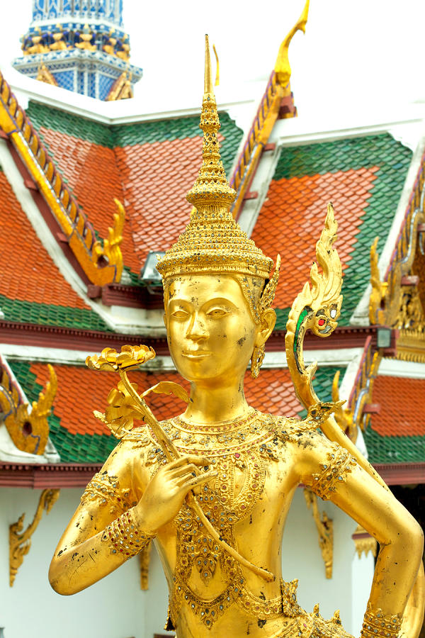 Kinnari Statue In Grand Palace Thailand Photograph  - Kinnari Statue In Grand Palace Thailand Fine Art Print