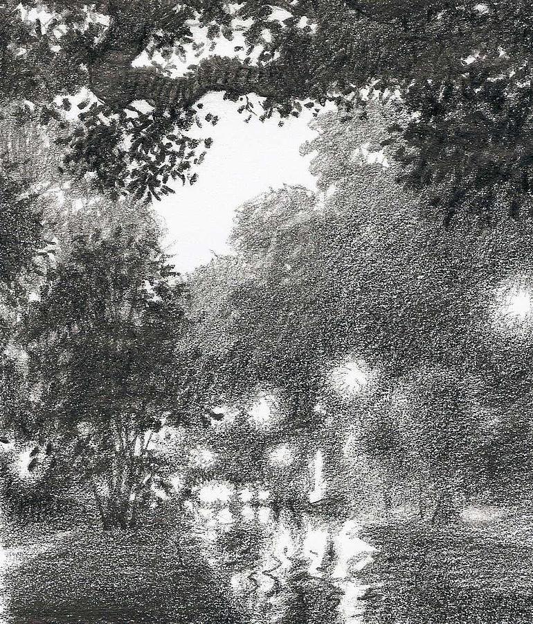 Kirby Street At Night Drawing