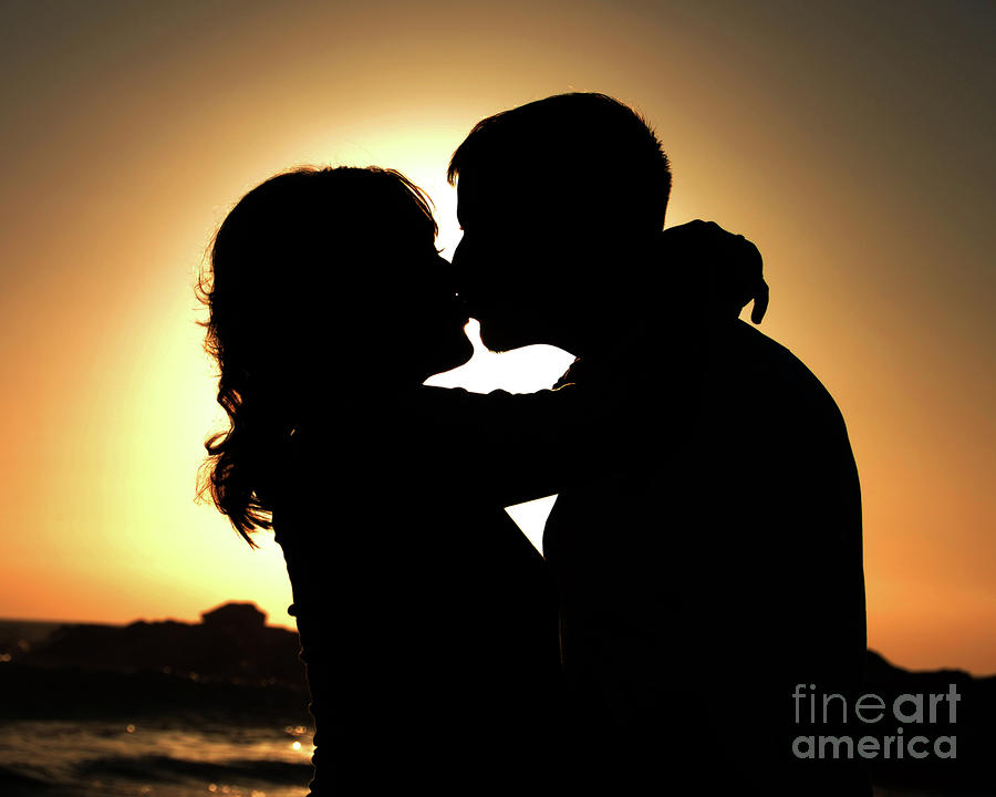 Kiss At Sunset Photograph  - Kiss At Sunset Fine Art Print