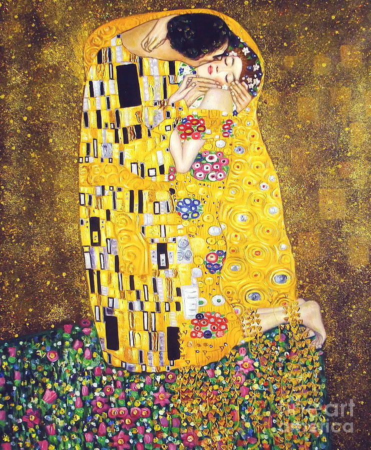 Kiss by gustav klimt for Gustav klimt original paintings for sale